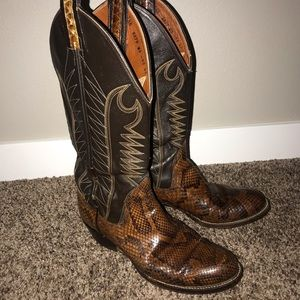 Handcrafted Sanders Python Ladies Cowboy Boots